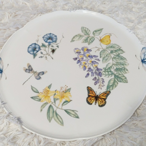 "Lenox Other - 🎄Lenox Butterfly Meadow 14"" Round Cake Plate NWT"